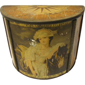 Vintage 1936 British Biscuit Tin MILKMAID Carr's