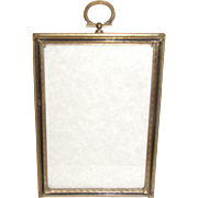 Vintage Brass Table-Top Photograph Frame
