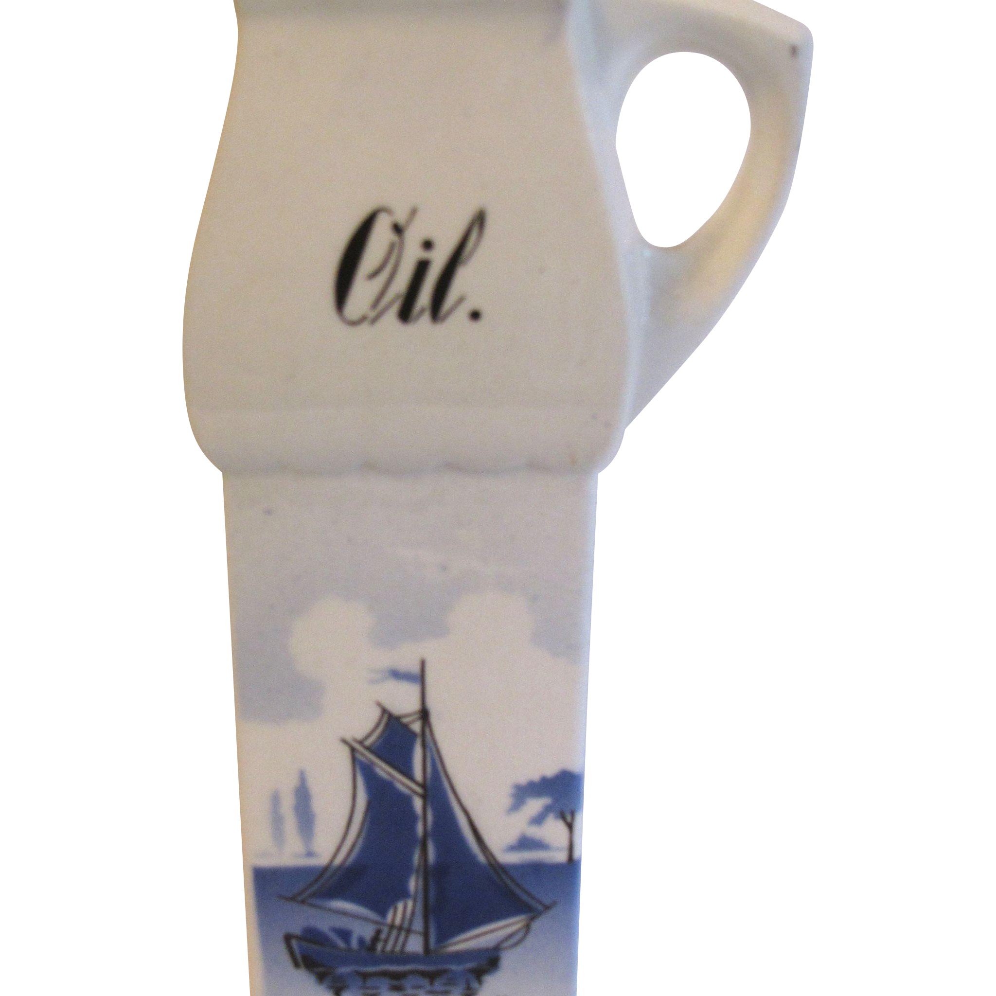Oil Cruet, Delft, Made in Germany, Part of Kitchen Canister Set
