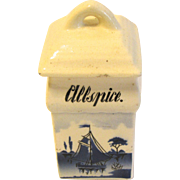 Vintage Delft Spice Jar, ALLSPICE, Made in Germany
