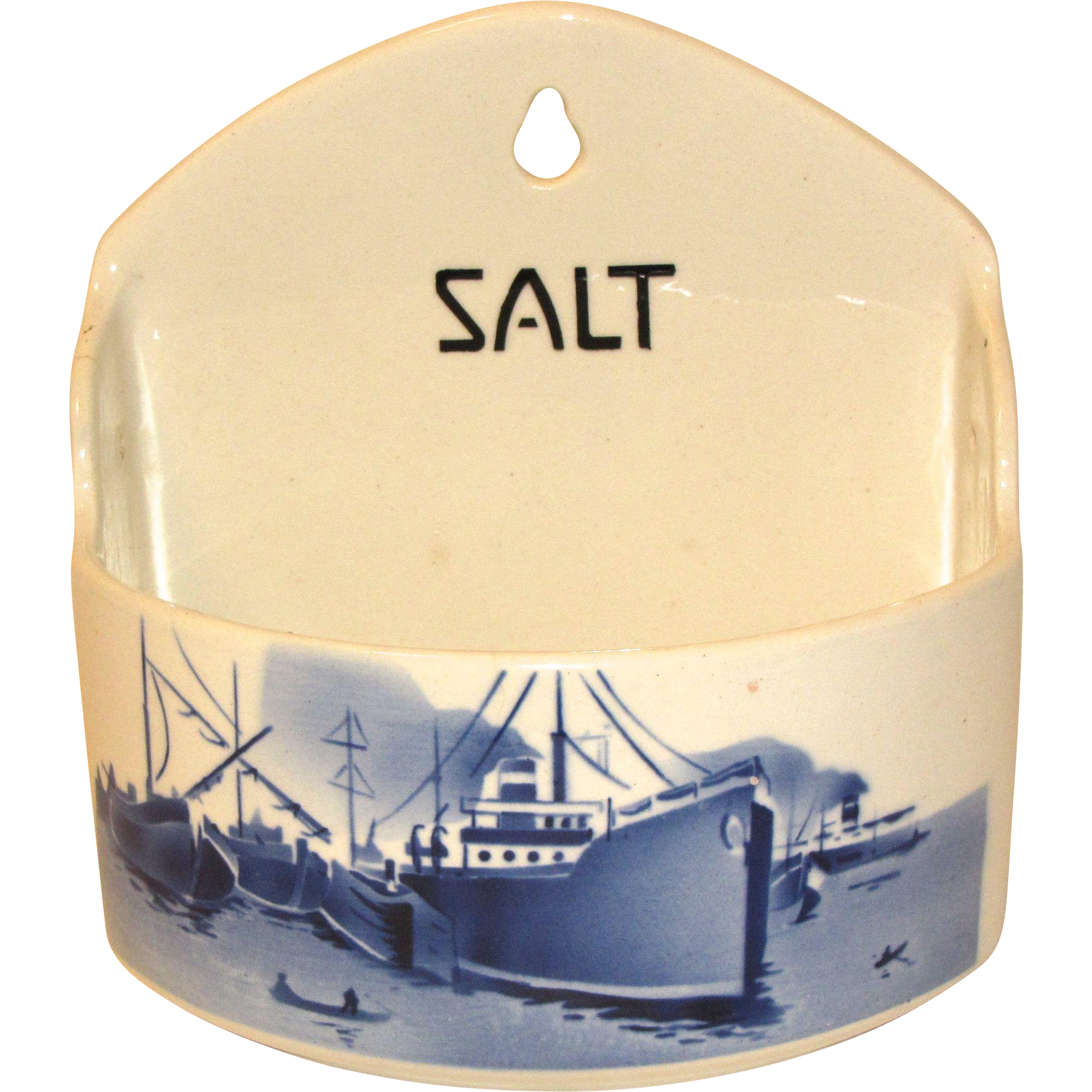 Blue White Delft Salt Box Czechoslovakia Yvonne