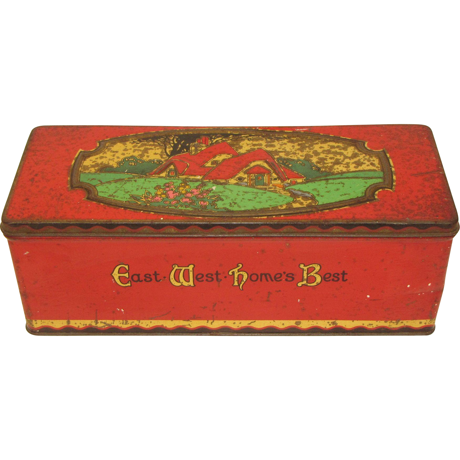 C. 1925 CWS Biscuit Tin East West Home's Best