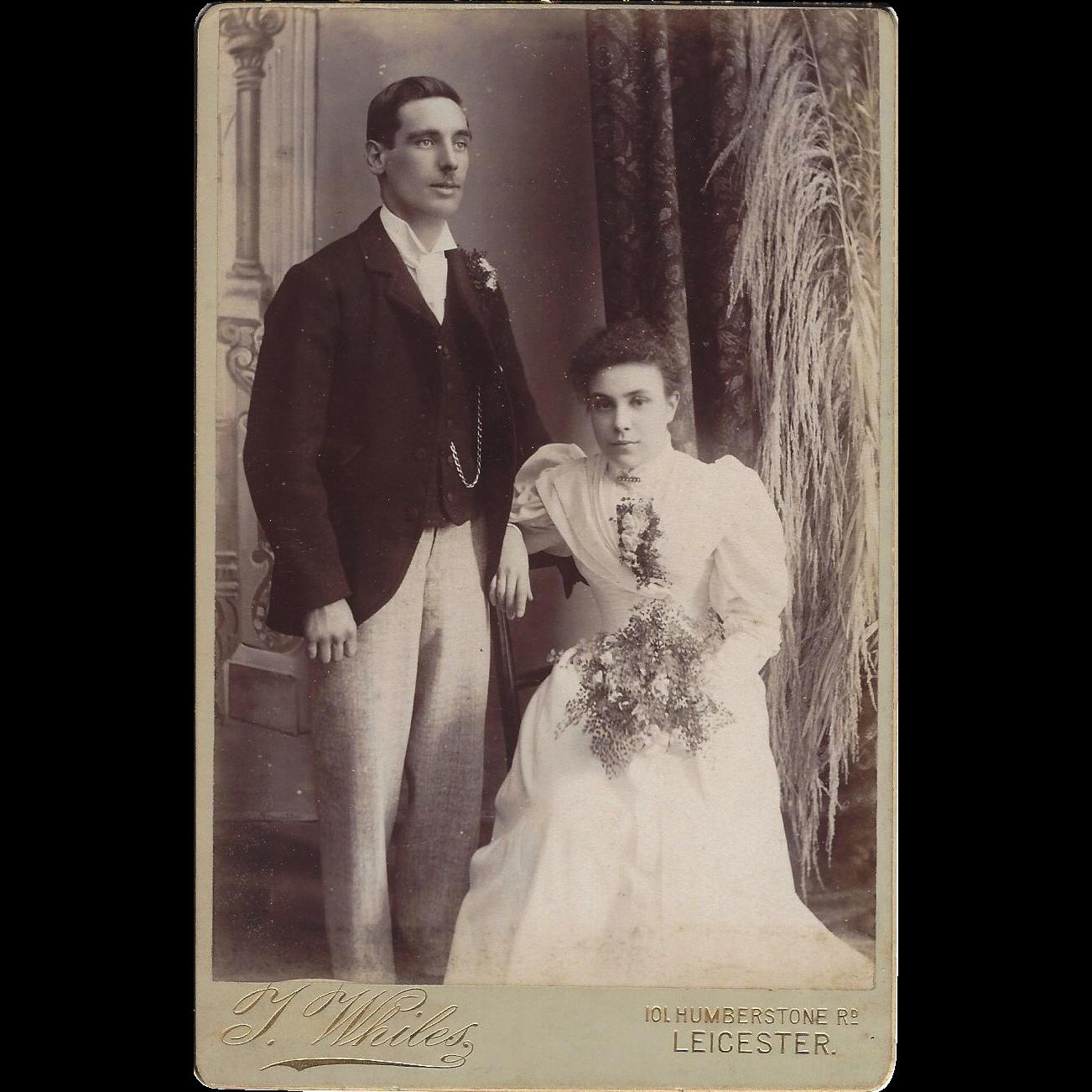 Cabinet Photograph Card, Wedding Couple