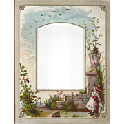 Lovely Chromolithograph Page from Victorian Photograph Album