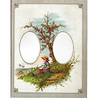 Lovely Chromograph Page from Victorian Photograph Album