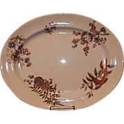 19th Century Aesthetic Brown Transferware Platter, Furnival