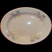 Small China Platter, Bluebirds in Apple Blossoms, K.T.&K.