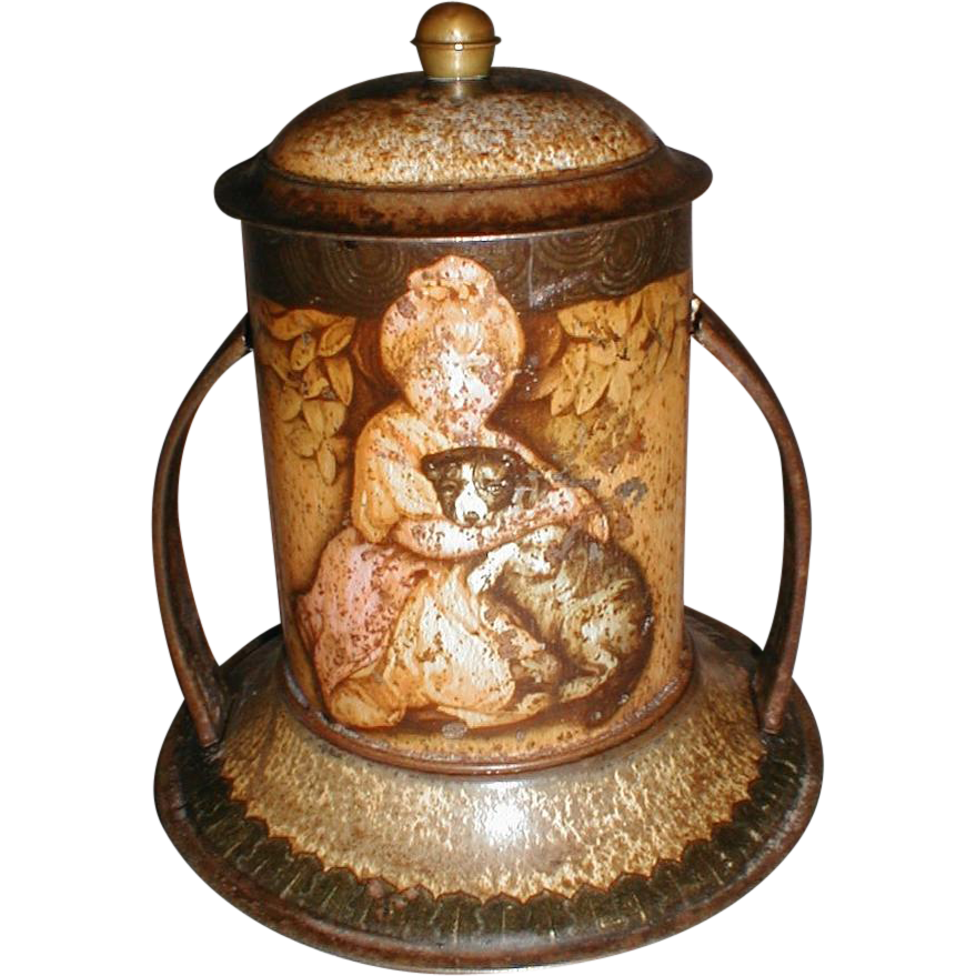 Rare 1908 British Biscuit Tin, REYNOLDS, MacFarlane Lang