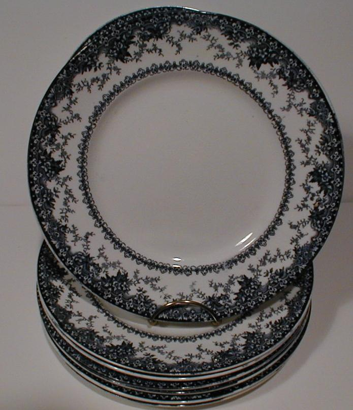 "Lovely 10"" Blue Printed Plate GUILD John Maddock & Sons ca 1900"
