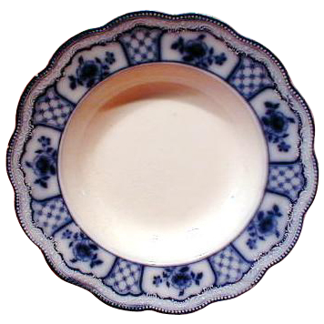 Gorgeous Flow Blue Soup Plate MELBOURNE Grindley