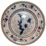 Lovely Early Flow Blue Polychrome Plate, VESPER, Ridgway