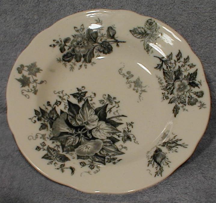 Lovely Blue Transferware Soup Plate GLORY Botanic Design