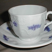 Lovely Ironstone Cup & Saucer, Not Marked