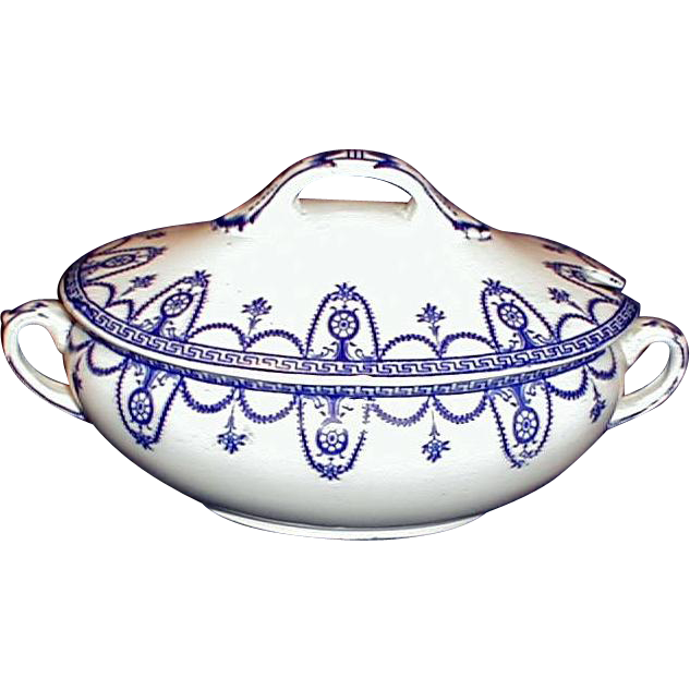 Lovely Blue Printed Sauce Tureen w/Lid Wedgwood DIANA
