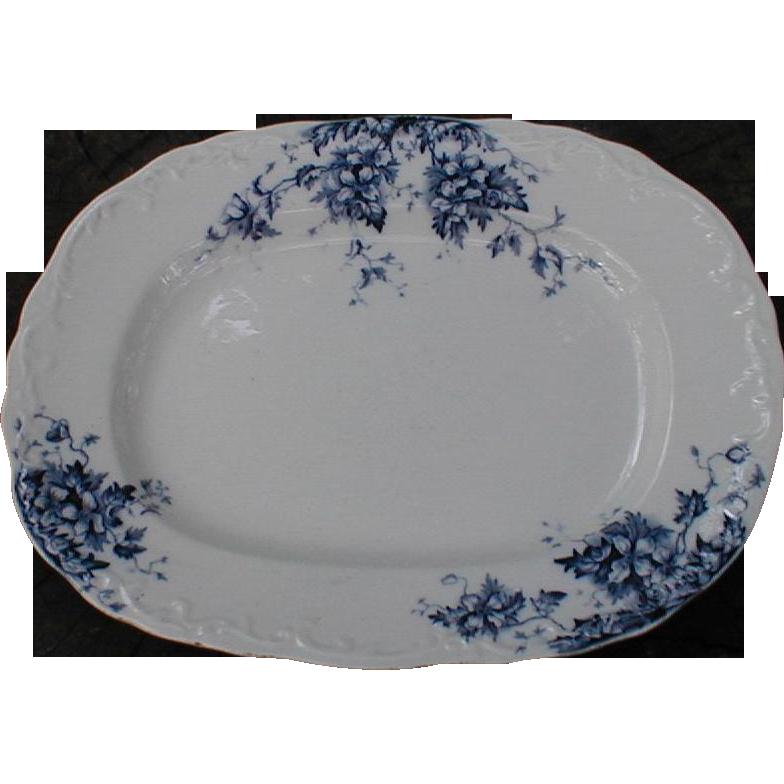 Lovely Blue Transfer Printed Platter, DORIC, J.M.&S.