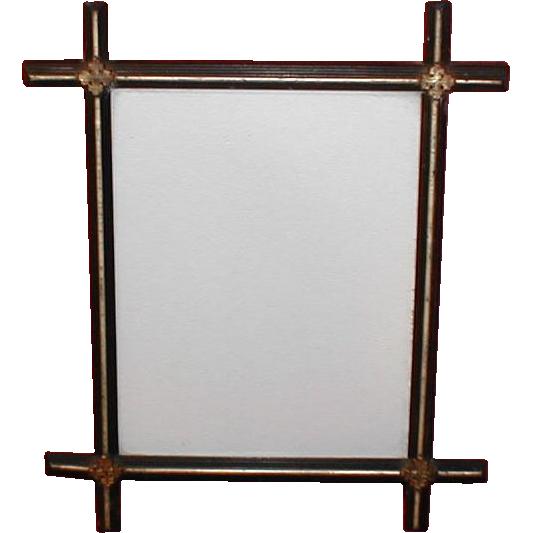 lovely vintage black painted criss cross frame
