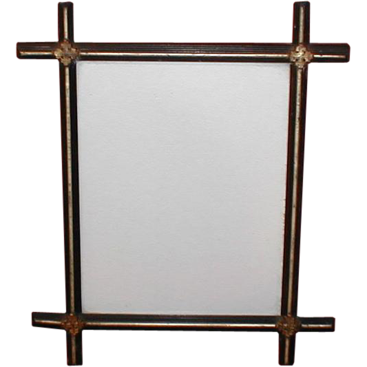 Lovely Vintage Black Painted Criss-Cross Frame