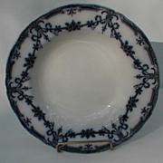 Lovely Small Flow Blue Soup Plate, ALEXIS, Adderleys