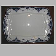 Lovely Flow Blue Platter, NAPIER, Keeling & Co.