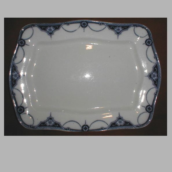 Lovely Flow Blue Platter, NAPIER, Keeling & Co.