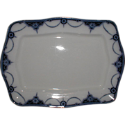 Lovely Rectangular Flow Blue Platter, NAPIER, Keeling & Co.