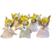 Vintage Christmas Decorations, Group of 8 Tulle Angels