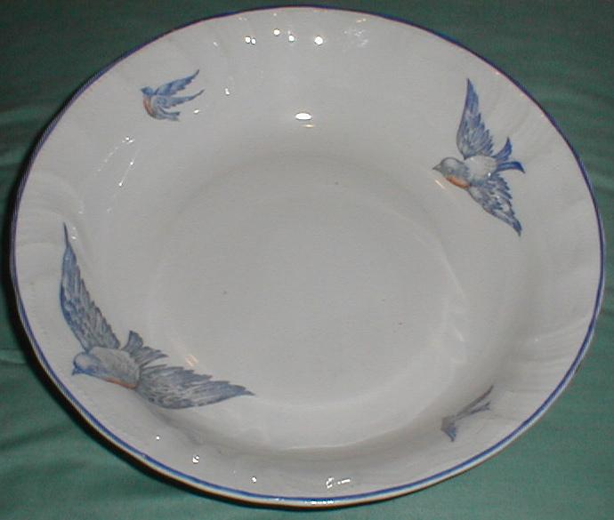 Lovely Large Round Vegetable Bowl, Bluebird China, Marked Florence