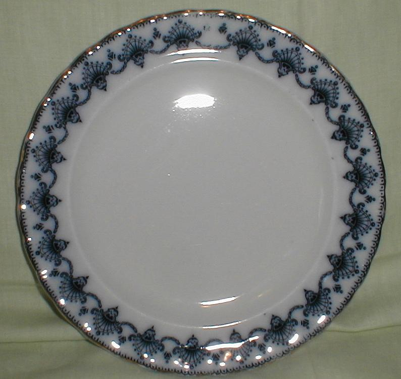 Lovely Flow Blue Plate, Keeling & Sons, MATLOCK