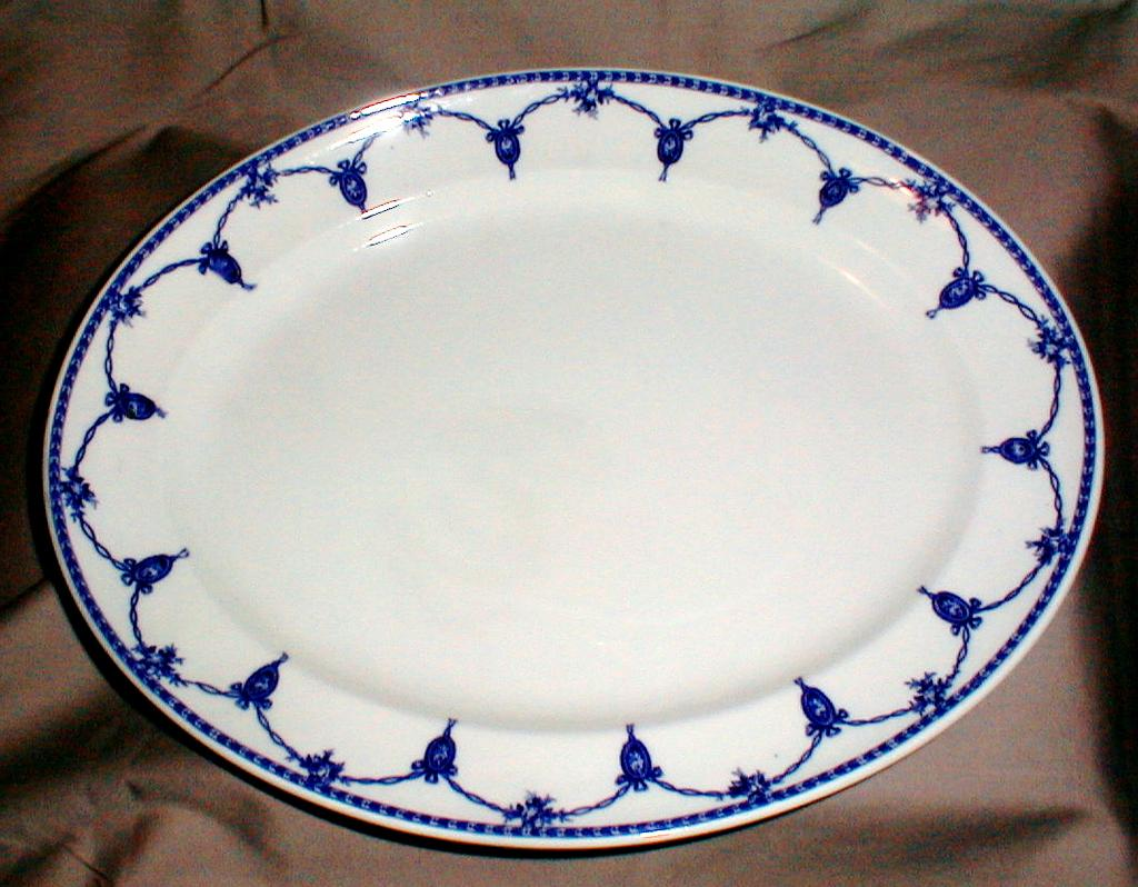 Lovely Large Flow Blue Platter Losol Ware Kensington