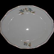 Gorgeous Bluebird China Meat Platter, ca 1920, Salem China
