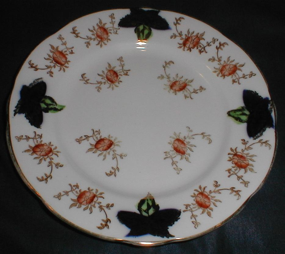 Lovely Bone China Tea Plate, Flow Blue with Flowers, England