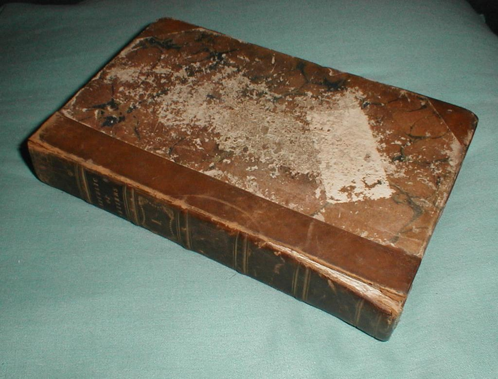 "Small Book, Leather Binding, Marbled Back, ""Republic of Letters"" Whitelaw 1833"