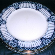 Lovely Flow Blue Dinner Plate, HALFORD, Ford & Sons England