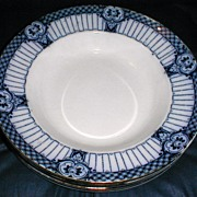 Lovely Flow Blue Soup Plate, HALFORD, Ford & Sons England