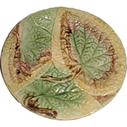 Lovely Antique Overlapping Begonia Leaf Plate