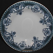 Lovely Flow Blue Soup Plate ASHTON Pountney Bristol CA 1900