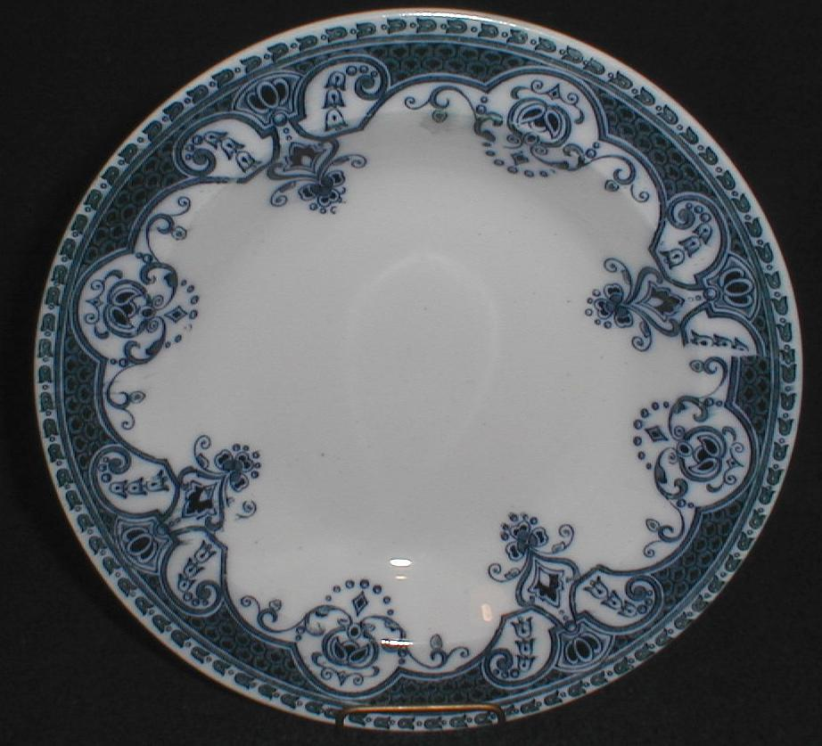 Lovely Flow Blue Soup Plate ASHTON Pountney Bristol CA 1900