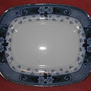 Lovely Flow Blue Platter (Tray), WEIR, F & Sons, Burslem England