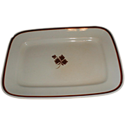19th Century White Ironstone Tea Leaf Platter Wilkinson
