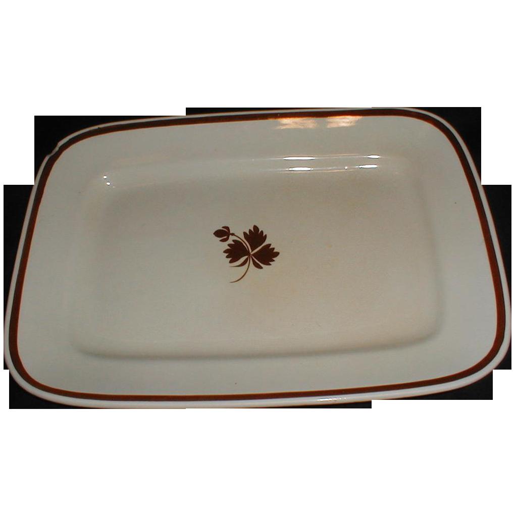 19th Century White Ironstone Tea Leaf Platter Wilkinson