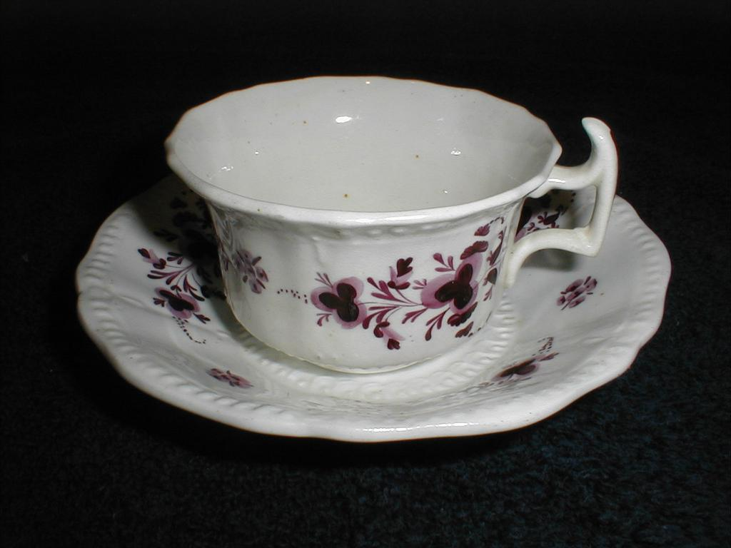 Lovely Lavender Transferware Cup & Saucer, English