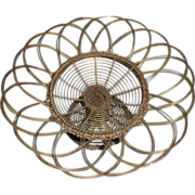 Large Antique French Wire Basket Compote for Center Piece