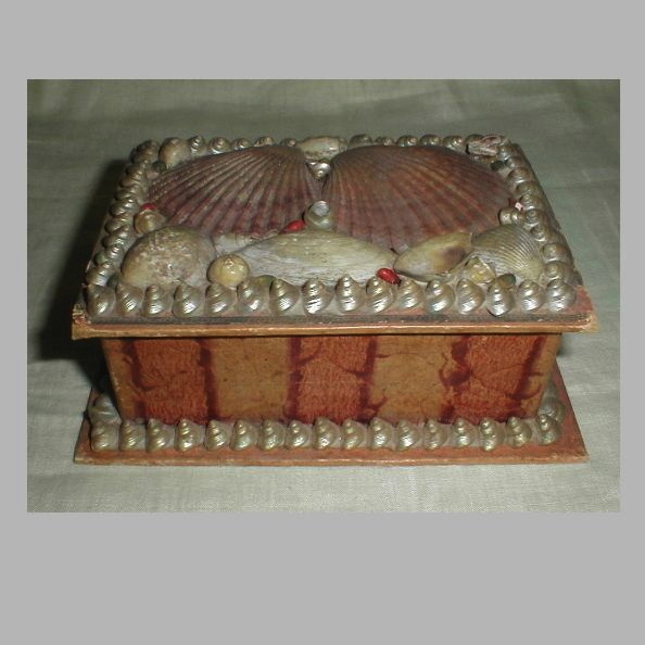 Lovely Victorian Sea Shell Box