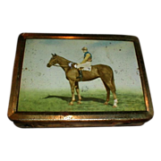 Great Vintage Huntley & Palmers Biscuit Tin Box, Early Mist