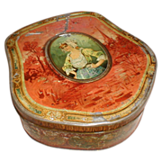 Very Old French Biscuit Tin, Biscuiterie De Bretagne