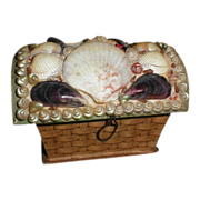 Lovely Victorian Domed Shell Sewing Box, France