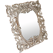 Cast Tin (High Lead Content) Cabinet Photo Frame, ca 1895