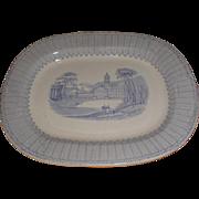 Lovely Light Blue Transferware Platter, CORINTH, Fell, 1845