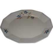 Large Bluebird China Platter, Sebring Pottery, C. 1925