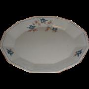 Large Bluebird China Platter, Sebring Pottery, C. 1925